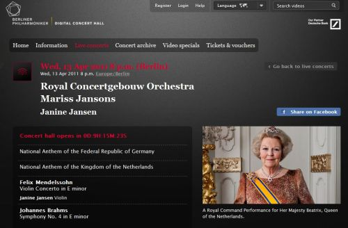 personalidades   THE QUEEN OF THE NETHERLANDS WITH THE ROYAL CONCERTGEBOUW ORCHESTRA