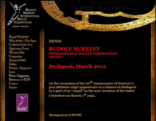 concursos   Rudolf Nureyev International Ballet Competition 2012