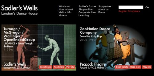 internacional  Sadlers Wells announce that the Spring / Summer 2012 season