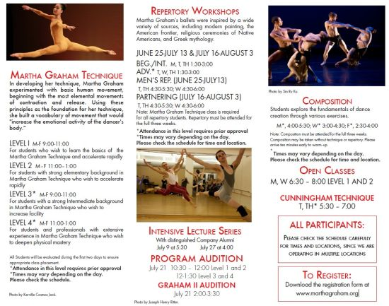 MARTHA GRAHAM SCHOOL OF CONTEMPORARY DANCE - Danza Ballet