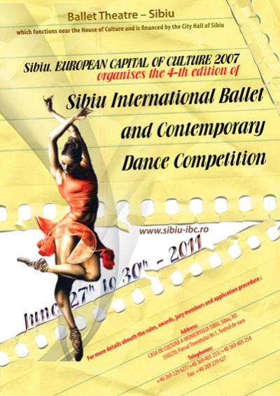 concursos   Sibiu International Ballet and Contemporary Dance Competition