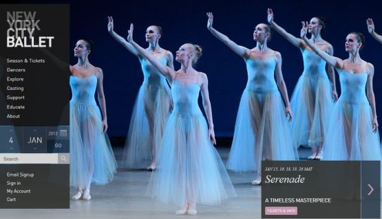 bailarines de ballet  NEW YORK CITY BALLETto present