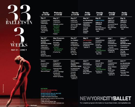 internacional  New York City Ballet Presents 33 in 3 and Memory of Maria Tallchief
