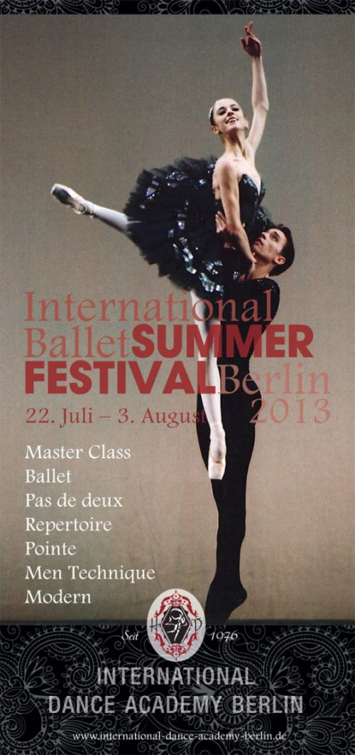 concursos clasica  International Ballet Summer Festival Berlin 2013