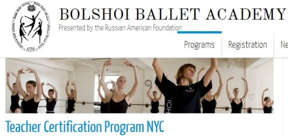 master class  Teacher Certification Program NYC Bolshoi Ballet Academy
