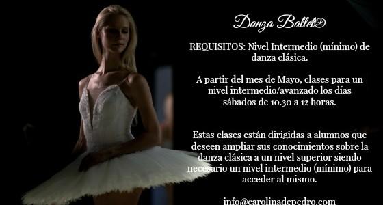 Danza Ballet® Clases Vagánova Nivel Intermedio/Avanzado. A partir del mes de mayo, clases estrictamente para este nivel. DEFINICIÓN DEL NIVEL INTERMEDIO El nivel intermedio tiene como finalidad pri