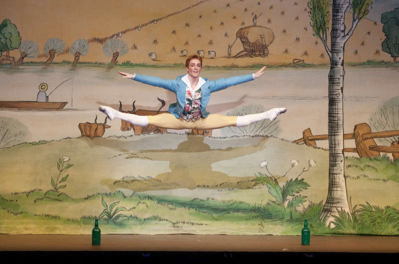 A scene from La Fille Mal Gardee by the Royal Ballet @ Royal