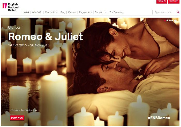 cartelera  Romeo & Juliet by English National Ballet