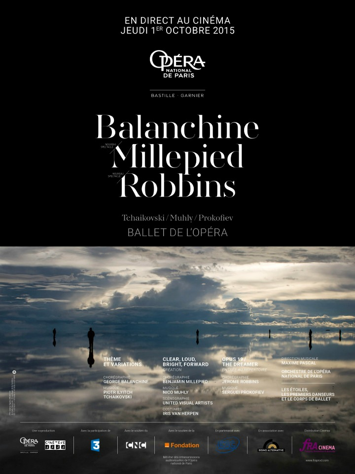 cartelera  MILLEPIED, ROBBINS, BALANCHINE Opéra national de Paris