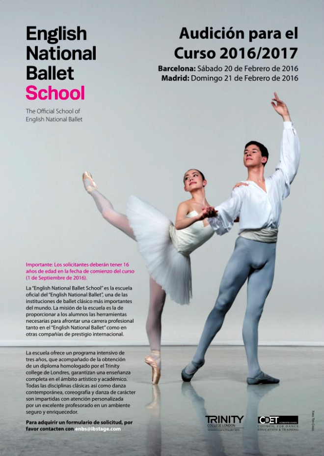 master class  Audiciones English National Ballet School