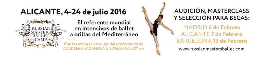 RUSSIAN MASTERS BALLET CAMP 2016 - MADRID ALICANTE BARCELONA