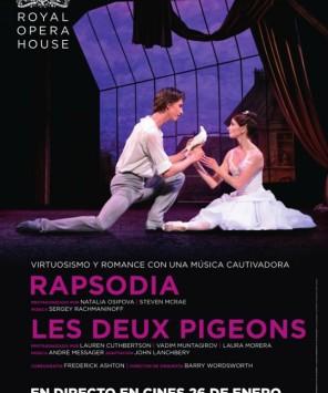 Rapsodia y Les Deux Pigeons, dos ballets en los cines