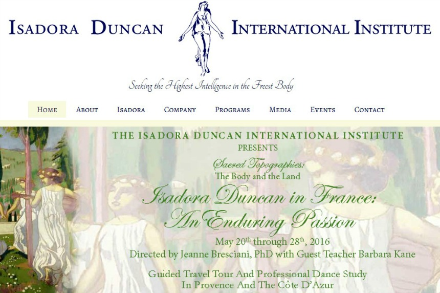 master class  Isadora Duncan International Institute in France