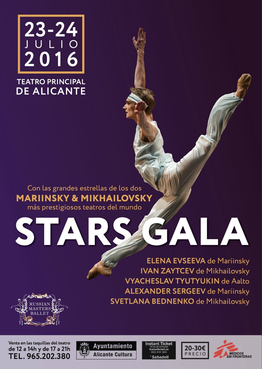cartelera  Russian Masters Ballet Camp y STARS GALA