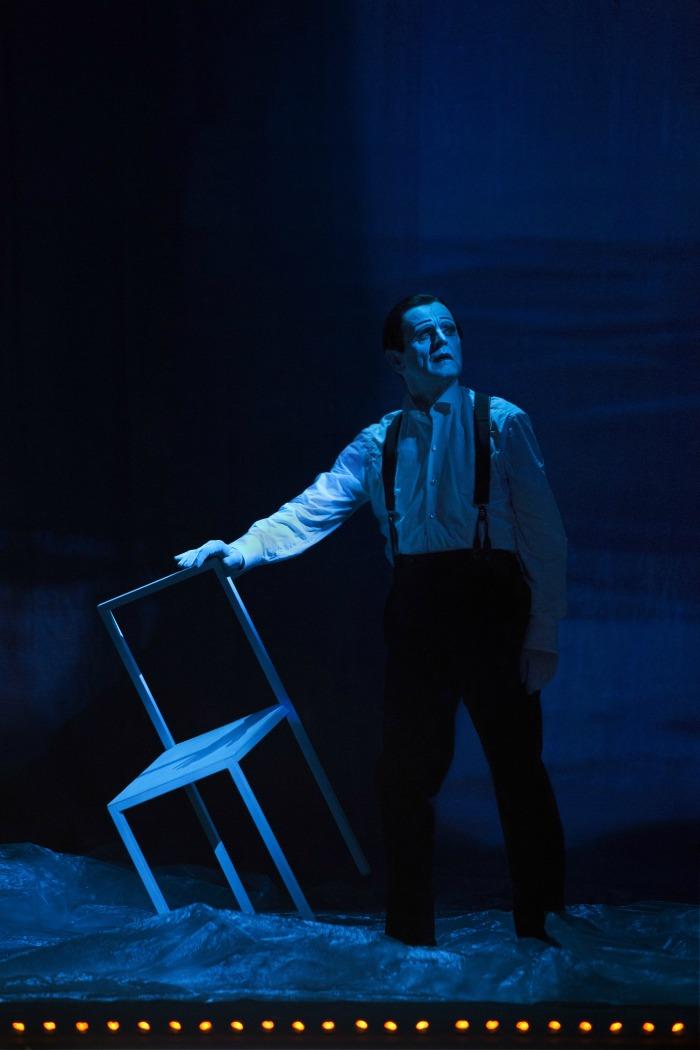cartelera bailarines de ballet  Letter to a man, Wilson y Baryshnikov en Barcelona