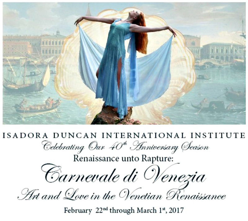 master class  Isadora Duncan International Presents Carnevale di Venezia
