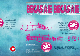 musica  Convocatoria BECASAIE 2017/2018