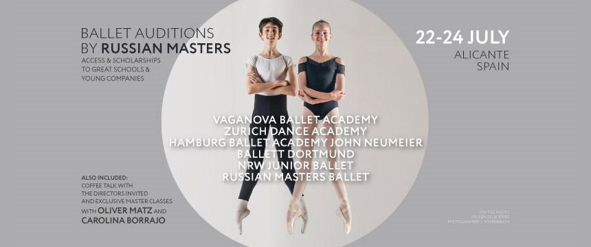bailarines de ballet  Ballet Auditions by Russian Masters, un evento único