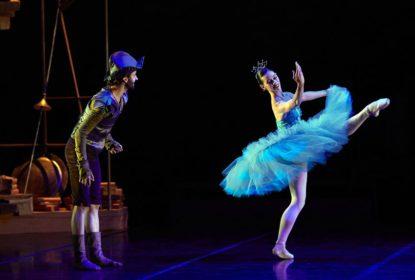 bailarines de ballet  Montevideo y Peralada unidas por El Quijote del Plata del Ballet Nacional Sodre de Uruguay