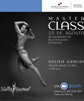 Ballet Nacional de Panamá realizará ciclo gratuito de clases magistrales virtuales