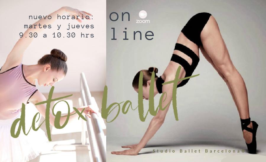 master class editora  Online x Zoom: Detox Ballet® Salud & Cuerpo, para mujeres de todas las edades