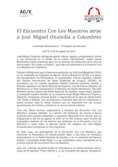 El Encuentro Con Los Maestros atrae a José Miguel Onaindia a Colombres